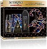 Scorpio Coffret 3 Produits Ambitious Eau de Toilette Flacon 75 ml/Gel Douche 250 ml/Dédodorant Atomiseur 150 ml