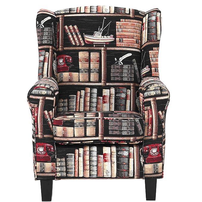 Butlers Sillón Biblioteca en Estilo rústico - Madera de ...