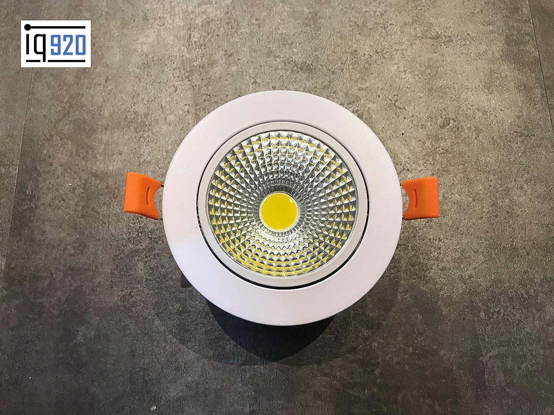 Kwazar Loxone KNX FHEM EIB Comexio - Foco led empotrable (24 V, regulable, 7 W, 24 VDC), color blanco cálido