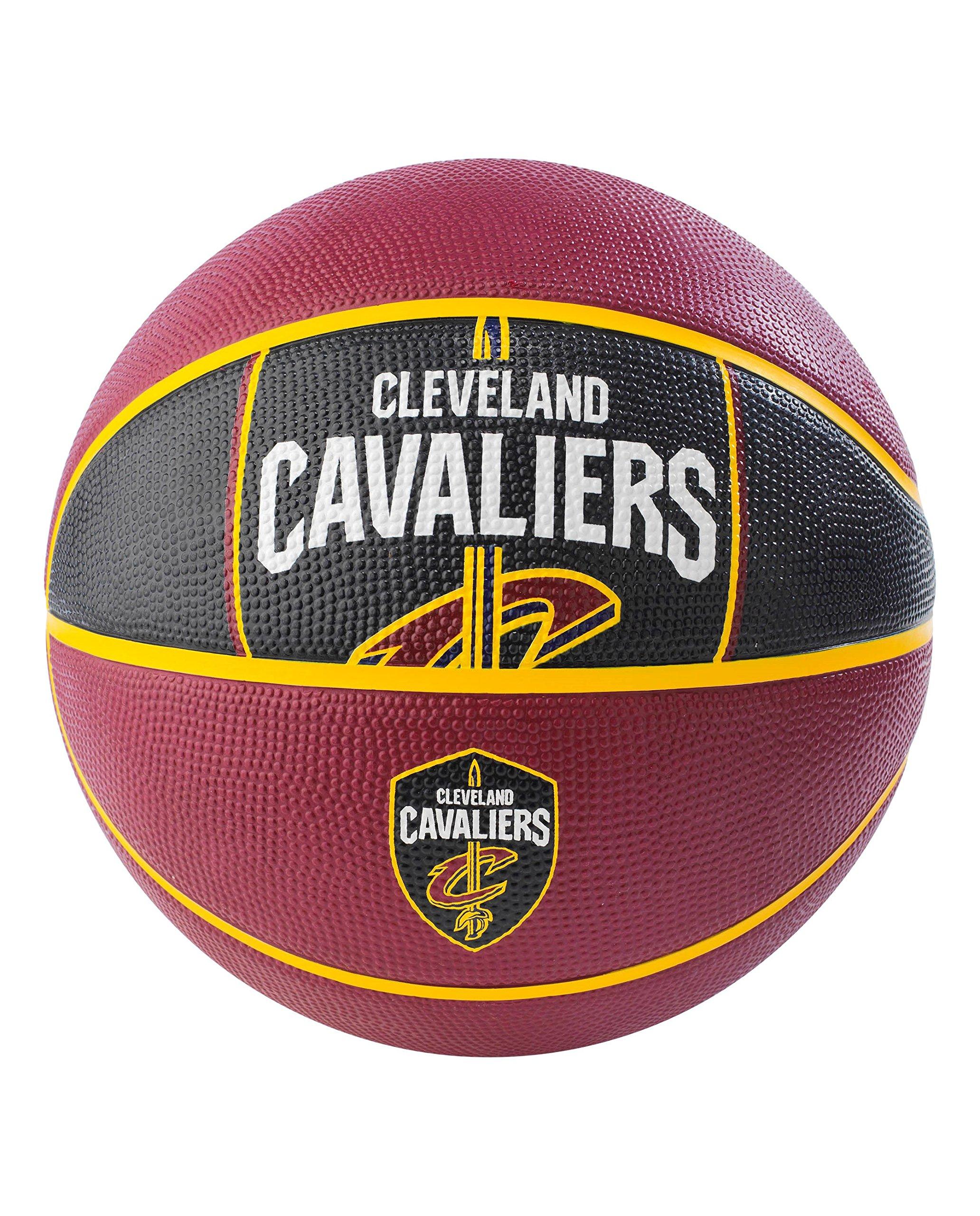 Spalding NBA Cleveland Cavaliers NBA Courtside Team Outdoor Rubber Basketballteam Logo, Maroon, 29.5''