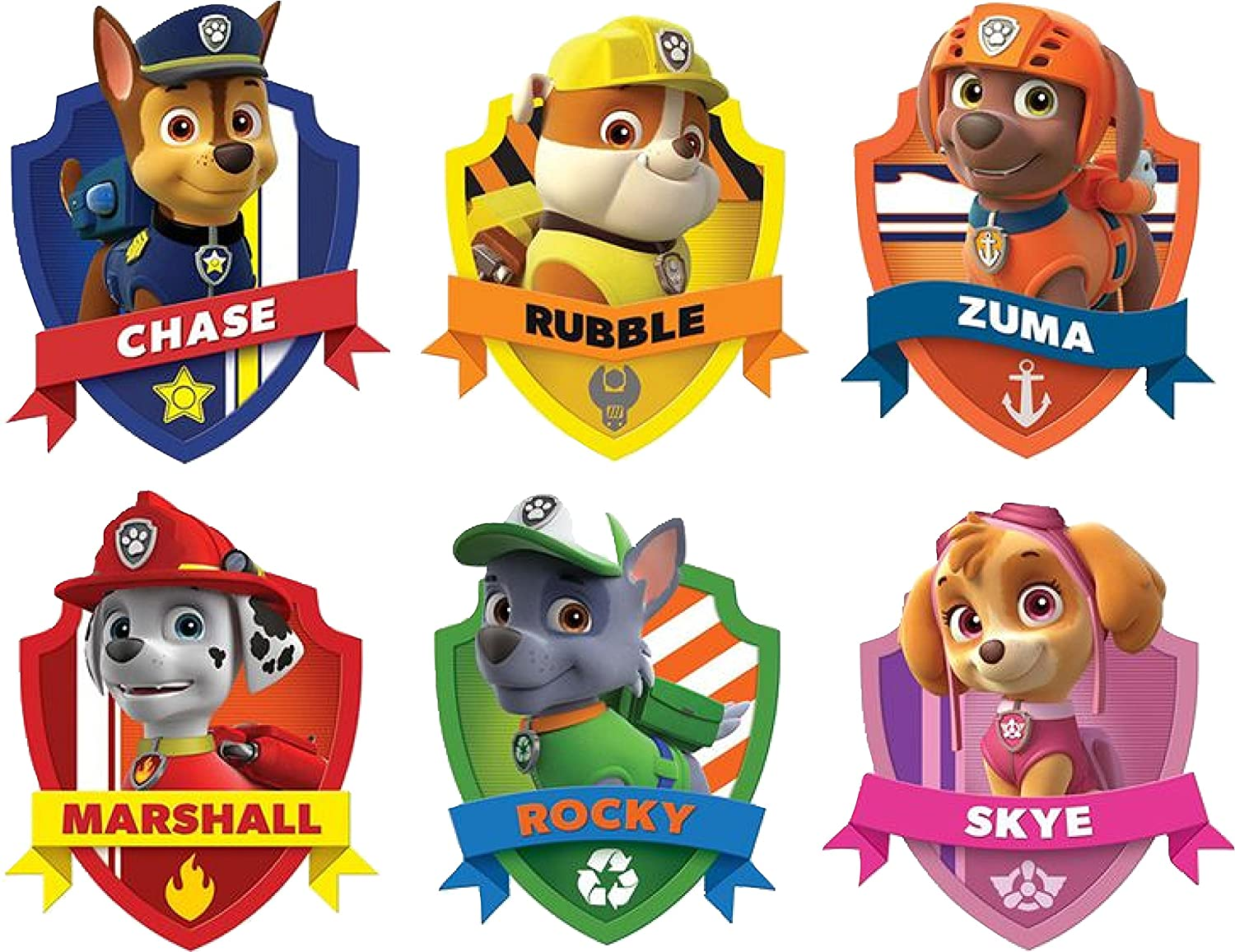 Paw patrol shield. D wall sticker set