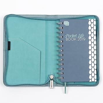 Boxclever Press 2019 Pocket Life Book. Agenda de bolsillo con funda de piel sintética ideal para personas con vidas atareadas. Semana por página. ...
