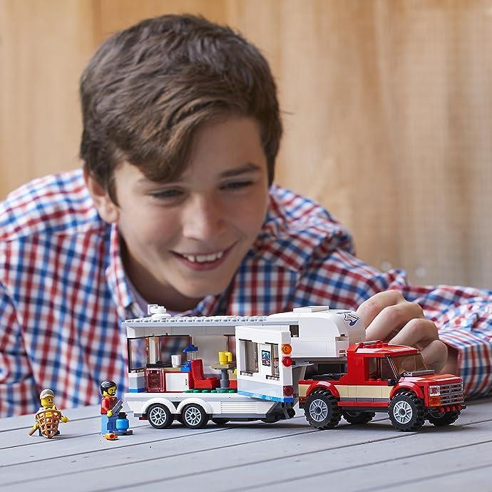 LEGO 乐高 CITY 城市系列 60182 亲子野营房车 积木玩具 8折$23.99 海淘转运到手约¥202