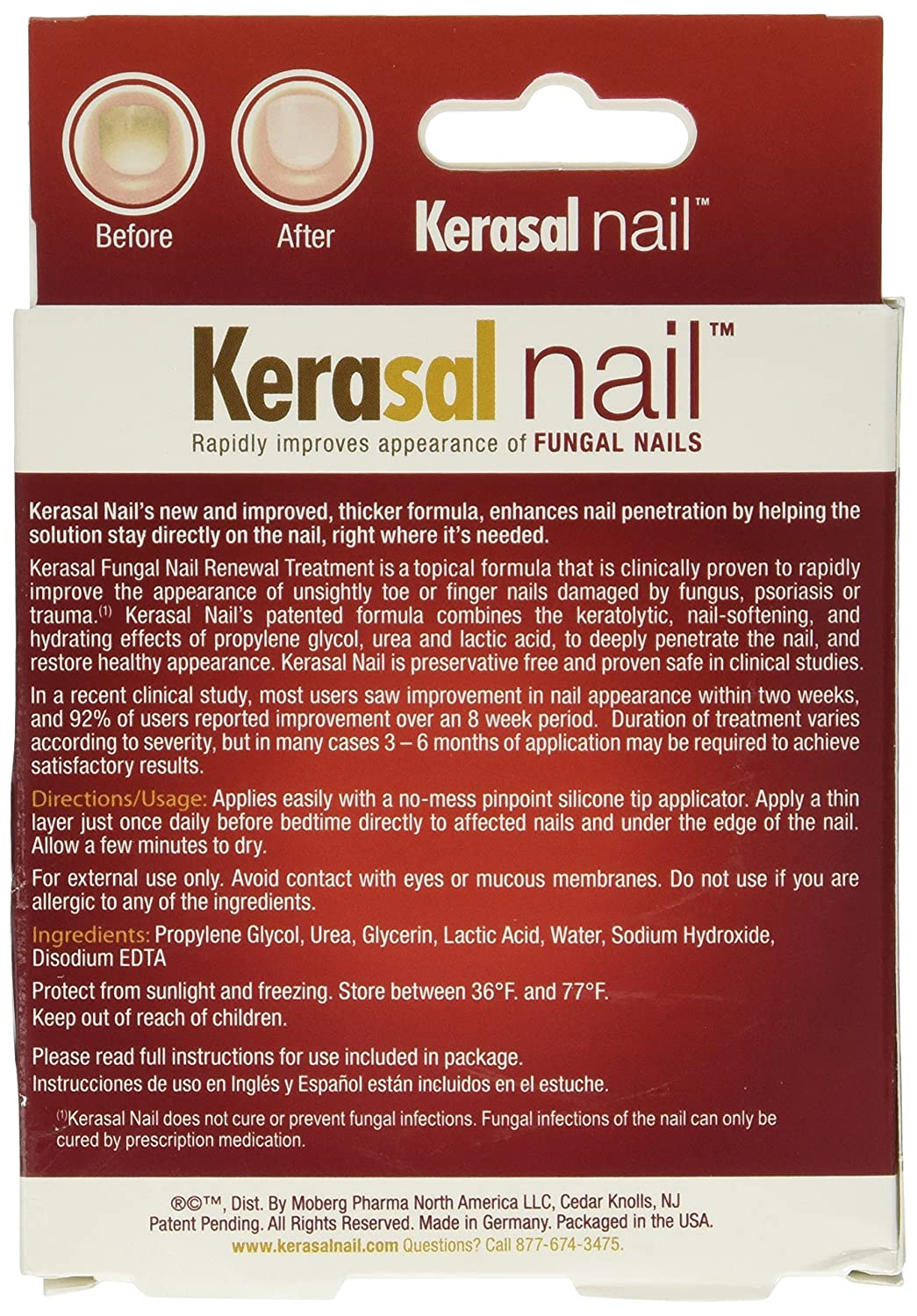Amazon.com: Kerasal Nail, Fungal Nail Repair, 0.33oz. Per Box ...
