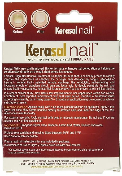 Kerasal Nail Fungal Nail Renewal Treatment 10 ml by Kerasal: Amazon ...