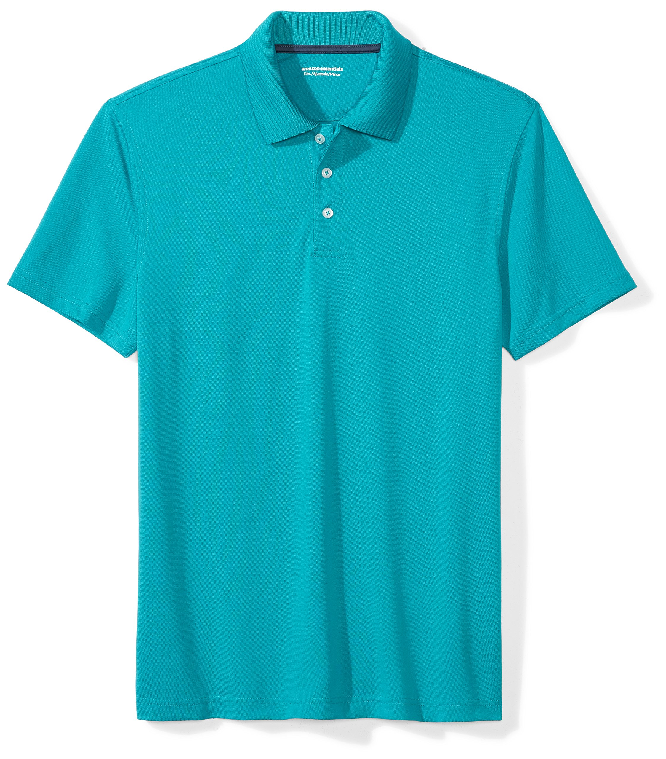 Amazon Essentials Men's Slim-Fit Quick-Dry Golf Polo Shirt, Dark Teal, Small by Amazon Essentials
