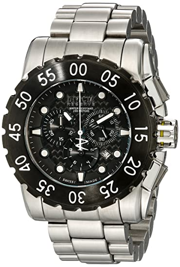 Invicta 1957 - Reloj, correa de acero inoxidable color plateado: Amazon.es: Relojes