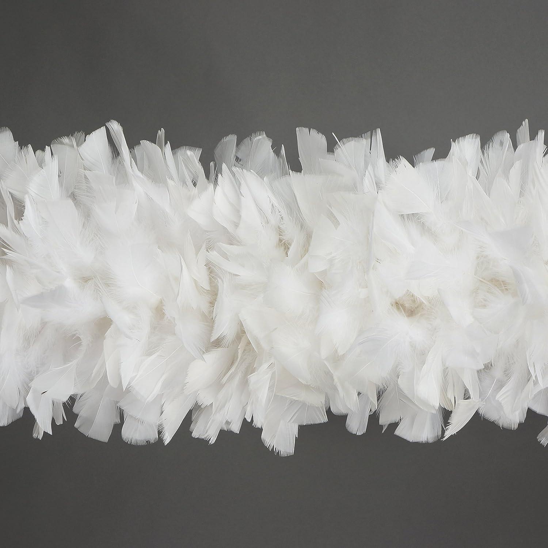 White Zucker Feather Products Turkey Boa 10-14 Inch Diameter Solid