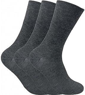 d5ec7382f 3 Pack Mens Thin Wide Loose Top Non Elastic Thermal Diabetic Socks for Poor  Circulation