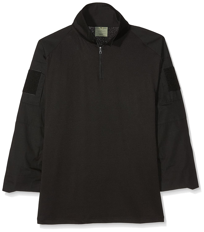 Mil-Tec Warrior camiseta con coderas Negro
