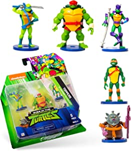 NINJA TURTLES Teenage Mutant Toppers, Set of 5- for Writing, Party Decor, Toppers Gifts playable Figures, Party Supplies – Quality Gifts for Ages 3+ by PMI