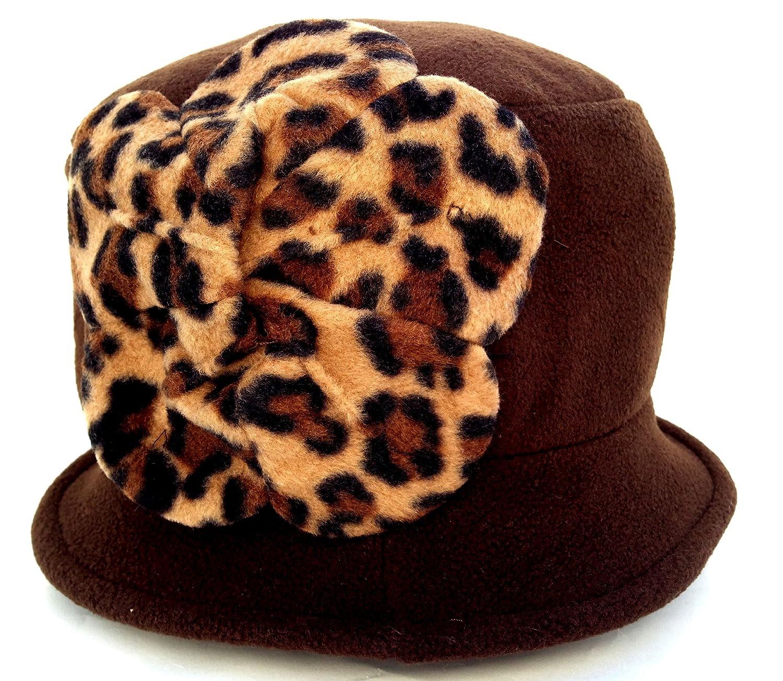 1842d853005 Amazon.com   Jeanne Simmons Women s Small Brim Polar Fleece Bucket Hat  (Brown - Brown Cheetah Flower)   Beauty Products   Beauty