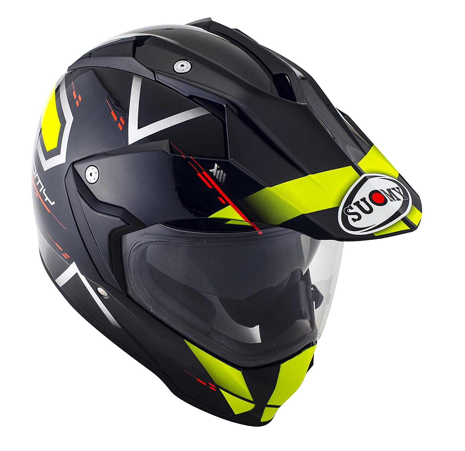 Amazon.es: Suomy Casco para Moto Integral Enduro Trail/Mx, Amarillo (Road Yellow, L