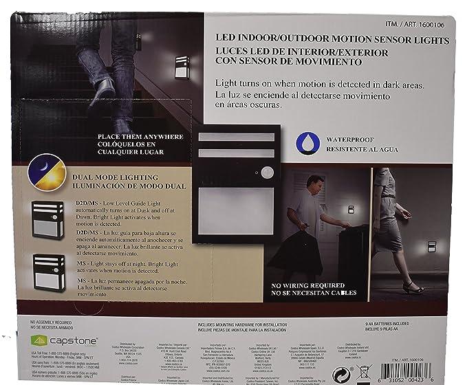 LED Indoor/Outdoor Motion Sensor Lights (Pack of 3)