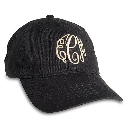 Amazon.com  Embellish Monogrammed Personalized Customizable Ball Cap ... b13b1a3b12cc