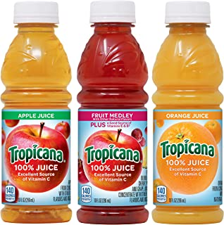 product image for Tropicana 100% Juice 3-flavor Classic Variety Pack, 10 Ounce Bottles, 24 Count