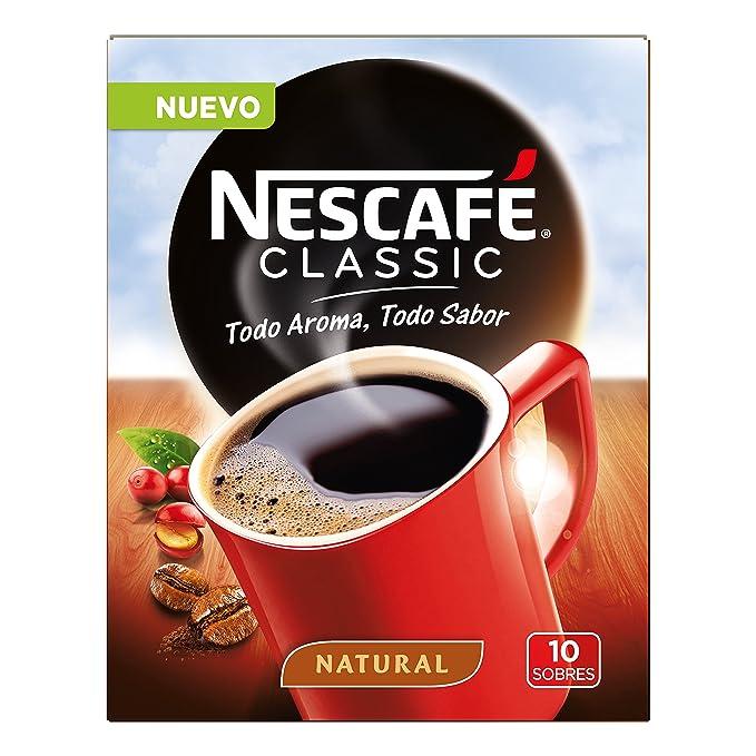 Nescafé Café Soluble, Classic Natural, 20 g, 10 Sobres