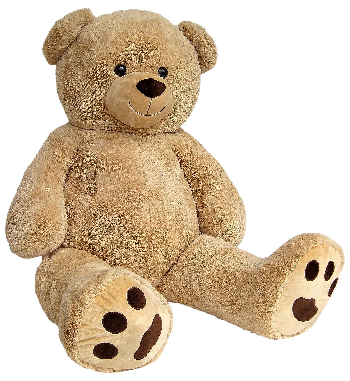 Wagner 9050 - Riesen XXL Teddybär 170 cm groß in hell-braun - Plüschbär Kuschelbär Teddy Bär in beige 1, 70 m Teddys