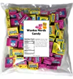 Nerds Candy 3 LB Bag Strawberry and Lemonade Wild Cherry Wonka Nerds Mini Boxes Assortment (Approx. 90 individually wrapped Boxes bulk candy