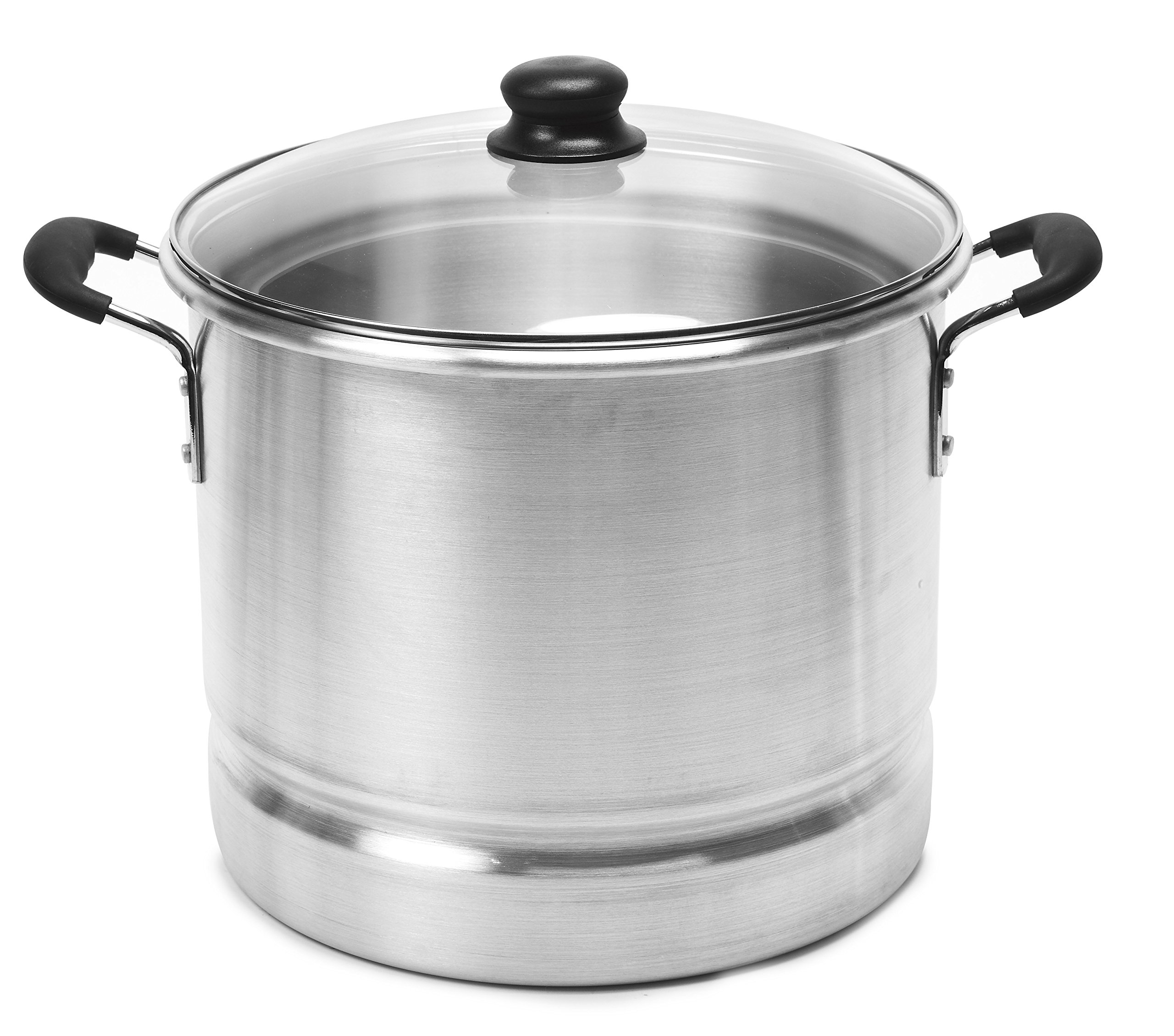 IMUSA USA MEXICANA-420 Steamer with Glass Lid 20-Quart, Silver