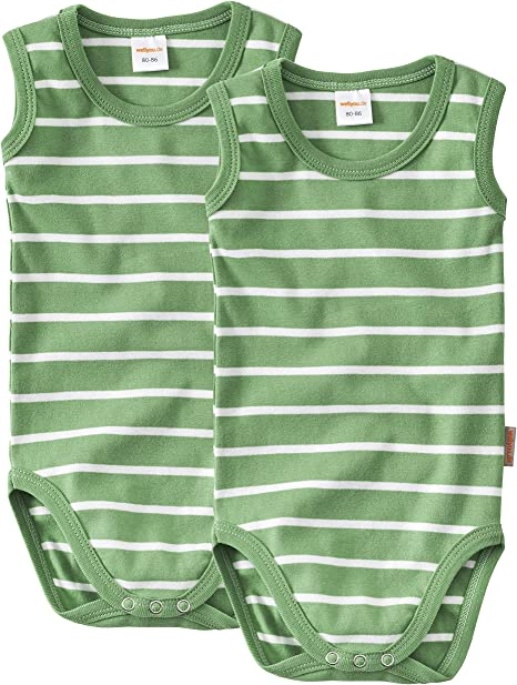 Kurzarm 2er Set in rosa wei/ß gr wellyou Baby und Kinder Doppelpack kurzarmbody//Baby-Body m/ädchen aus 100/% Baumwolle