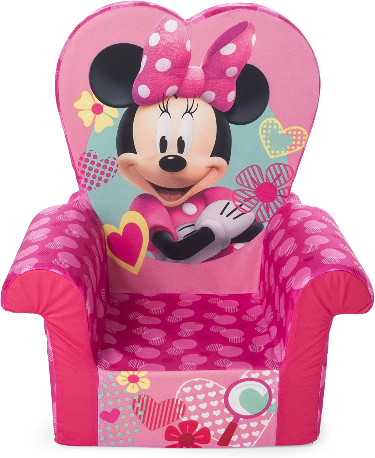 Marshmallow Furniture, Children's Foam High Back Chair, Disney's Minnie Mouse High Back Chair
