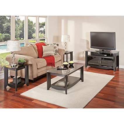 Amazoncom Aero Tv Stand And Coffee Table With End Tables Kitchen