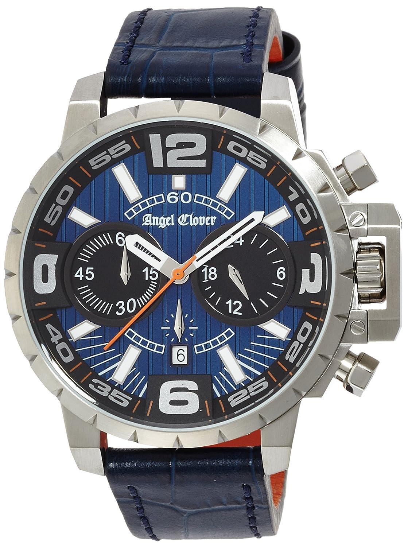 Angel Clover Herrenuhr Time Craft Marine Dial Edelstahl - Edelstahl (PVD) bei 100m Wasserdicht Datum NTC48SNV-NV