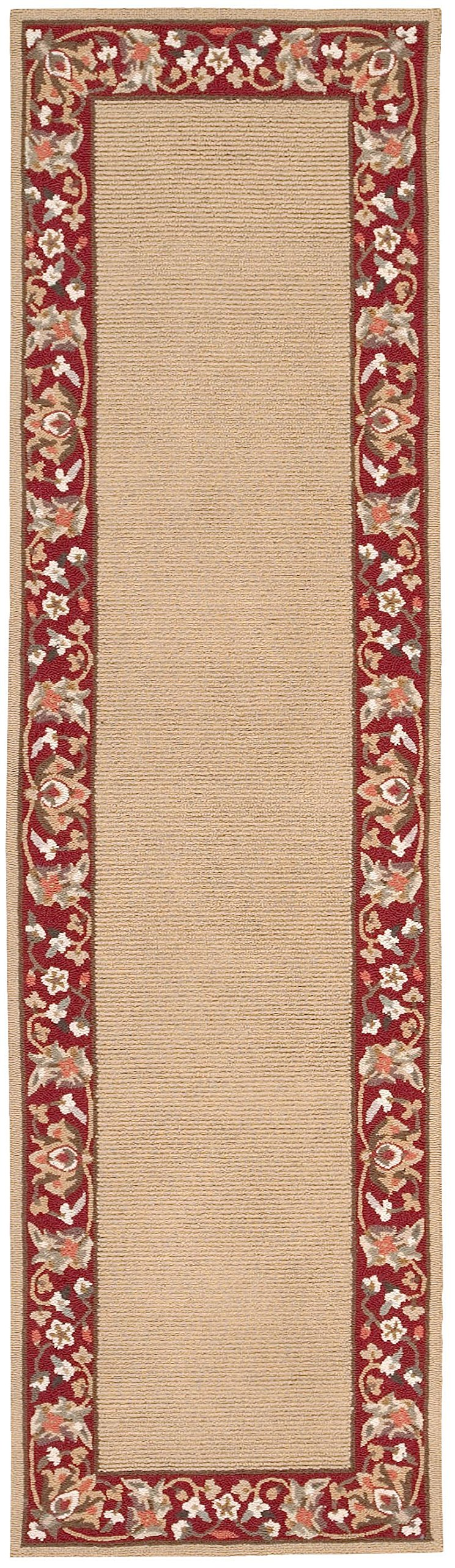 Nourison Country Heritage (H801) Gold Runner Area Rug, 2-Feet 3-Inches by 8-Feet (2'3'' x 8')