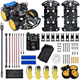 Basic Smart Robot Car Chassis for Arduino UNO R3 , Motor Wheel, Line Tracking, Infrared Obstacles Avoidance Function Robotics Kit with Tutorial