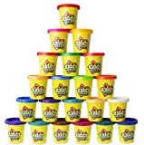 Kiddy Dough 24 Pack of Color Dough – Mega Modeling & Sculpting Playset With 24 Individual 3-Ounce Cans – Exclusive Bulk Party Pack