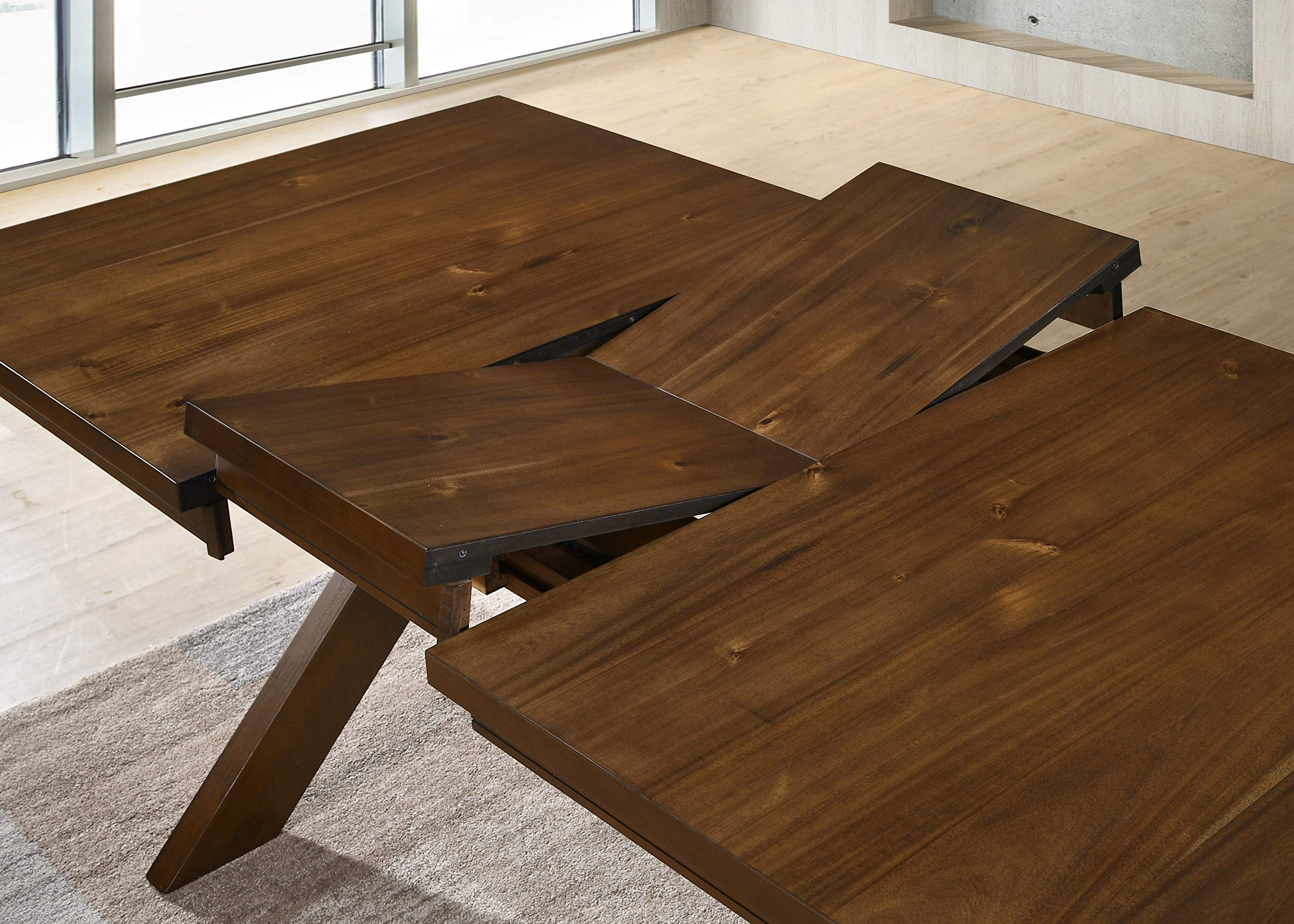 Roundhill Furniture Karven 9-Piece Solid Wood Dining Set with Table and 8 Chairs by Roundhill Furniture (Image #6)