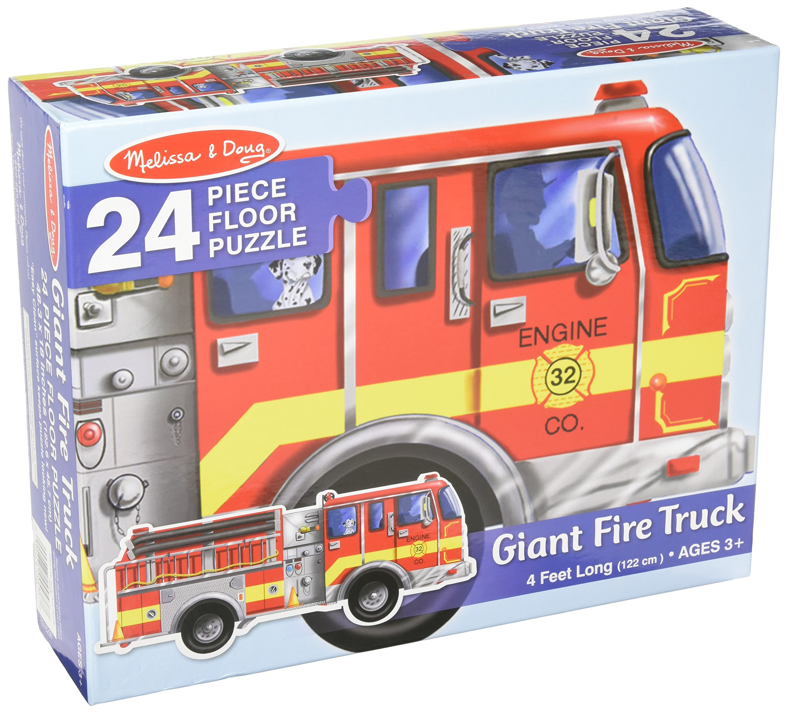 MELISSA & DOUG FLOOR PUZZLE GIANT FIRE TRUCK, 24piece (4Feet long)