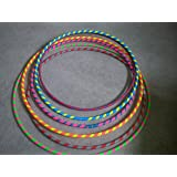 """38"""" 3/4 HDPE Gaffers Spiral Taped Practice Hula Hoop"""