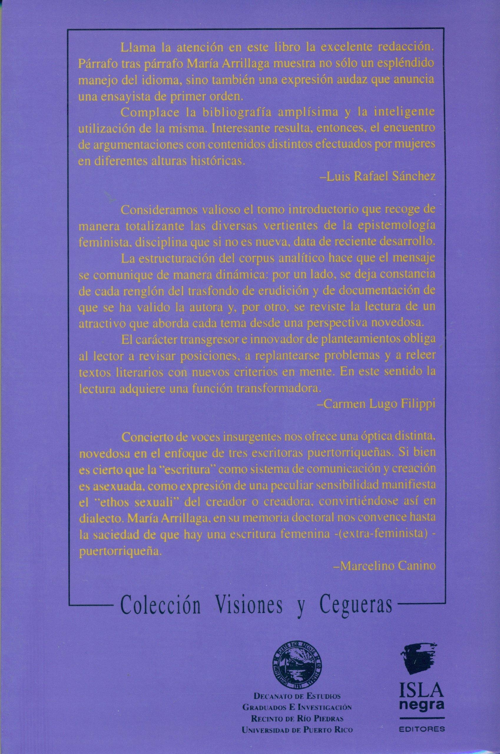 Amazon.in: Buy Concierto de voces insurgentes: Tres autoras ...