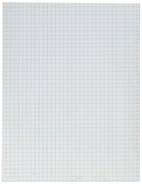 amazon com school smart graph paper pad with chipboard back 8 1 2