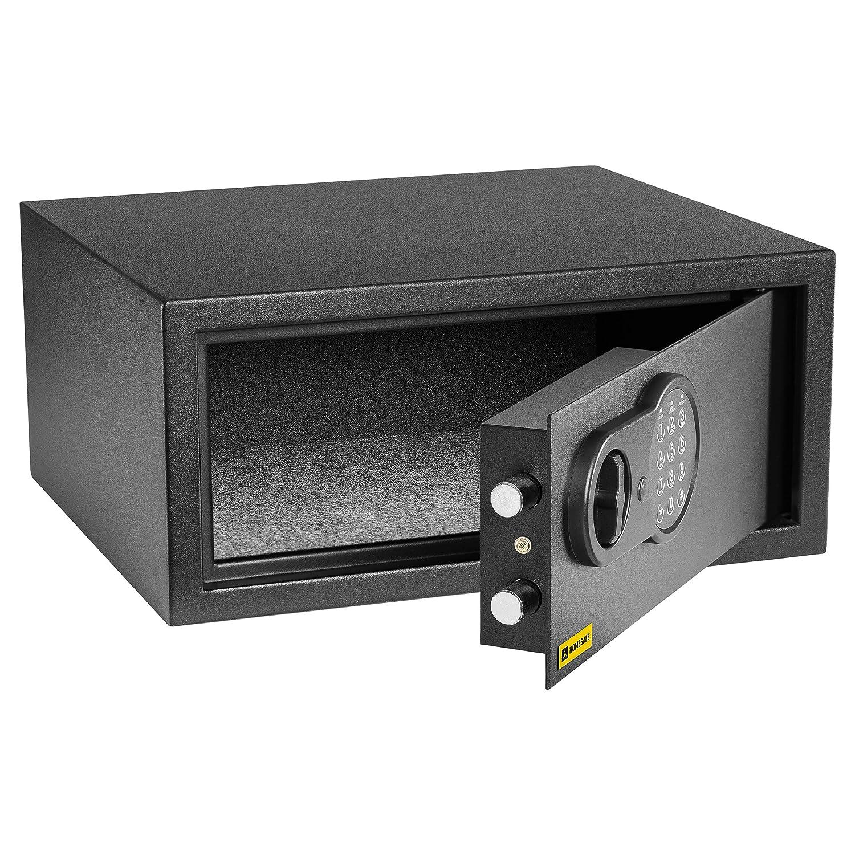 Satin Noir HomeSafe HV20E Coffre-Fort avec Serrure /électronique 20x31x20cm HxWxD