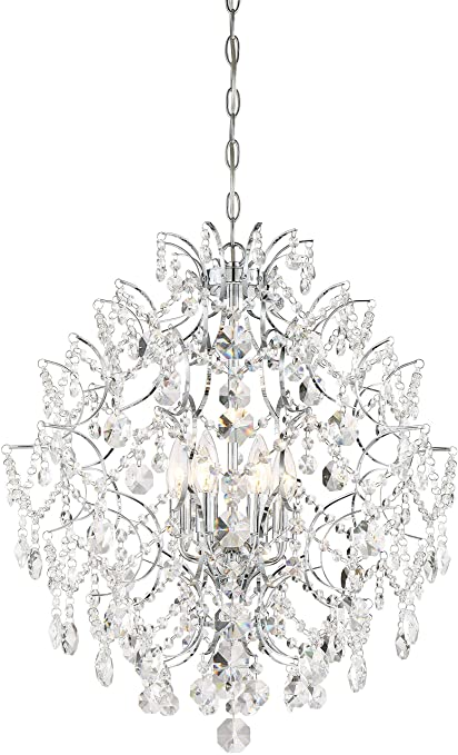 2b7f835be Minka Lavery 3157-77 Isabella's Crown Crystal Chandelier Lighting, 6-Light,  360 Watts, Chrome - - Amazon.com