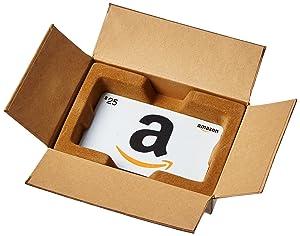 Amazon.com Gift Card in a Mini Amazon Shipping Box (Various Card Designs)
