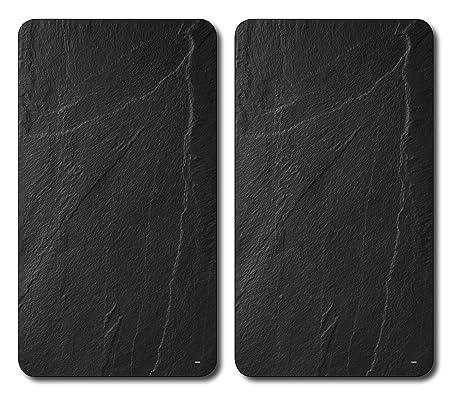 Kesper 36523 - Tablas para cortar, cristal, 2 unidades, 52 x 30 x 0,8 centímetros, negro