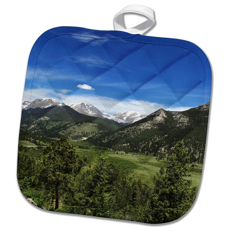 3dRose phl/_273524/_1 Pot Holder COLORADO ESTES NATIONAL PARK MOUNTAIN VIEW 8 by 8