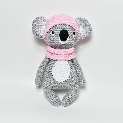 Amigurumi koala with heart pattern   Teddy häkeln, Stricken, Sticken   500x498