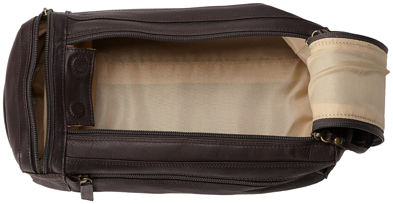 Brown Derek Alexander Twin Top Zip Shave Kit One Size PB1700