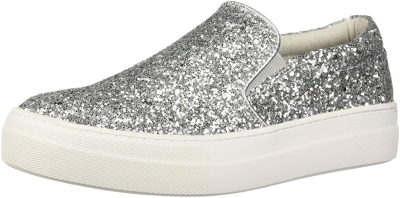 Steve Madden Women's Gills Sneaker B079VNFZCB 9 B(M) US|Silver Glitter