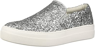 4b938e83a78 Steve Madden Women s Gills Sneaker Silver Glitter 6.5 M US