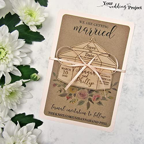 Amazon Com Save The Date Magnet Gazebo Save The Date Wood Save