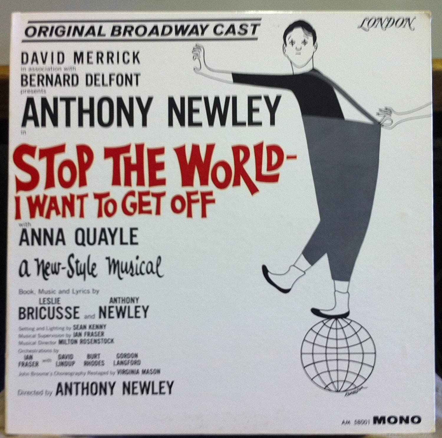 Stop The World I Want to Get OFf Original Bway Cast Album LP