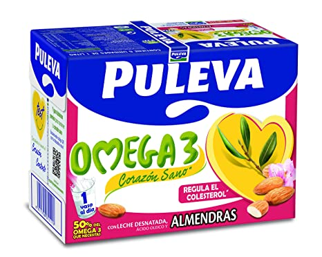 Puleva Omega 3 Leche con Almendras - 1 L: Amazon.es: Amazon ...