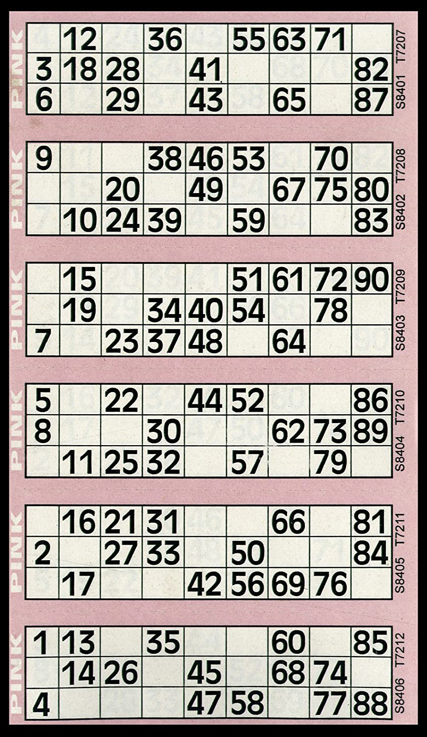Pad of Pink 6 to View Flyers 600 Bingo Tickets