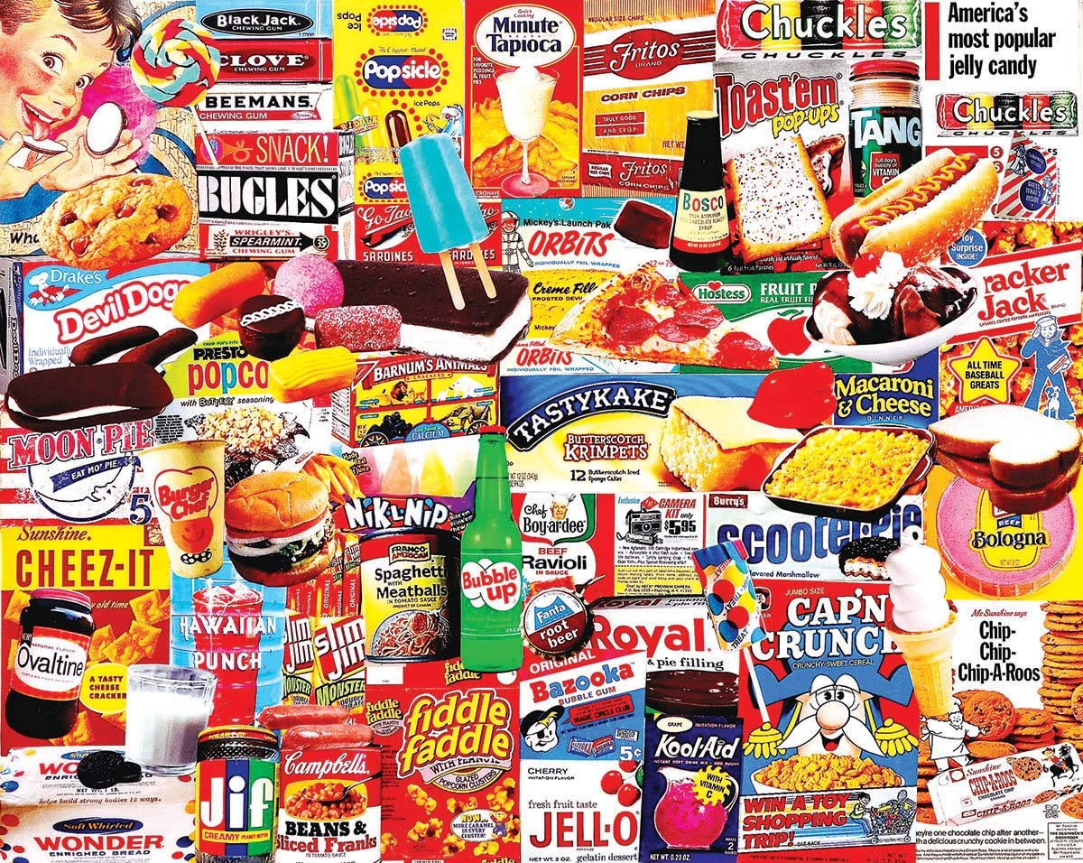 White Mountain Puzzles Things I Ate As A Kid Collage Puzzle - 1000 Piece Jigsaw Puzzle